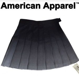 American Apparel Navy White Ombre Gradient Pleated